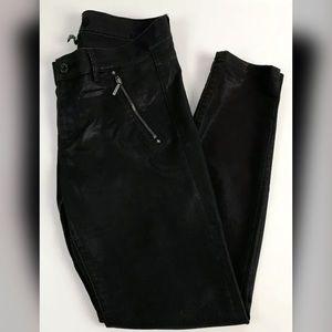 WHBM Skinny Moto Coated Biker Pants Jeans